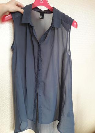 Базовая шифоновая блузка h&m