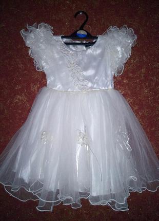 Платье нарядное, очень пышное,  для утренников, праздников, именин на 2-3 года kcl london