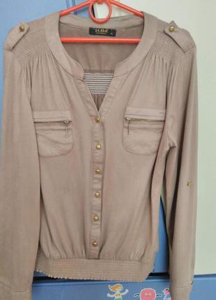 Рубашка женская под замш