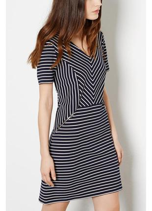 Стильное платье в полоску и с замочками warehouse