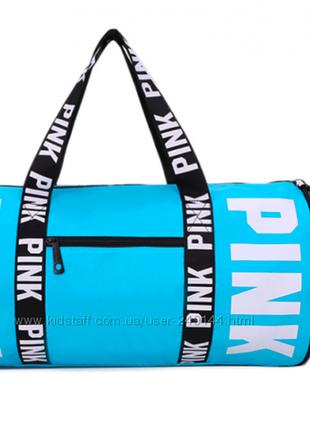 Спортивная сумка для фитнеса victorias secret  голубая