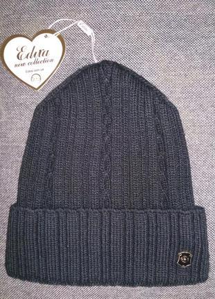 Новая шапка бини вязаная лопата зима деми