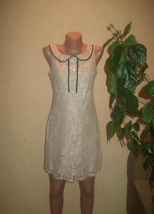 Акция !!! .гипюровое  платье newlook размер 8