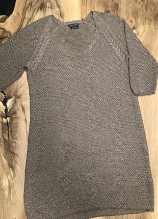 Вязаное платье с люрексовой ниткой