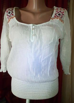 Распродажа очень красивая натуральная блуза вышиванка индия