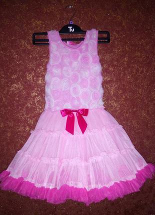 Шикарное пышное платье, бальное, на утренник, торжество на девочку 5-7 лет popatu