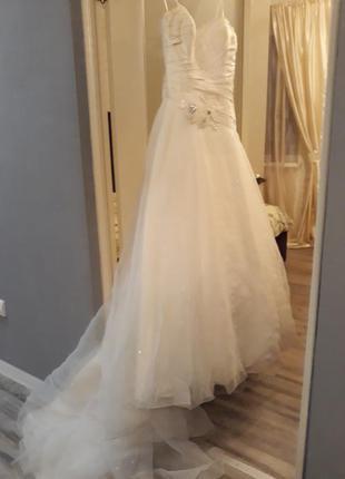 Свадебное платье натуральный шелк, английский дизайнер justine alexander