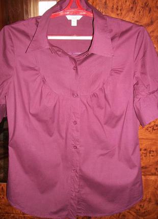 Базовая рубашка цвета марсала ( 12/14) jacob