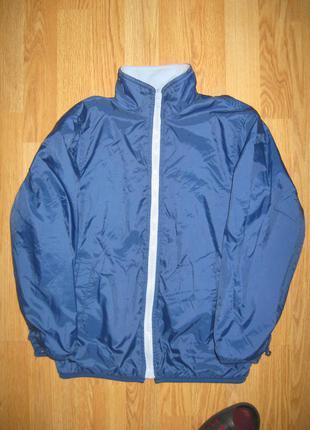Двостороння куртка вітрівка на флісі на 8-9 років №1