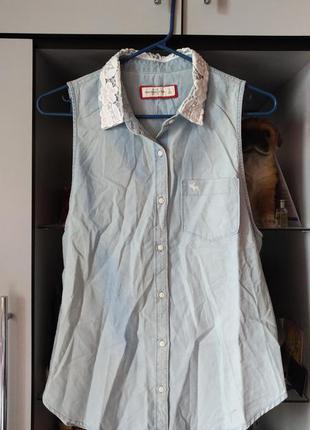 Рубашка без рукавов abercrombie & fitch