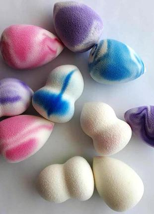 Набор спонжей для макияжа 10 шт. makeup cosmetic sponge flawless beauty blender