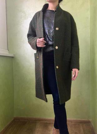 Пальто стильное oversize/boyfriend