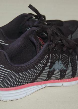 Кроссовки kappa для фитнеса черные пенка сетка 38-й размер
