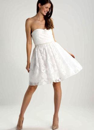- 55% свадебное платье р. м (короткое, на роспись, коктейльное)