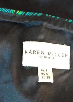 Распродажа!!! шикарная, черная майка в принт karen millen4