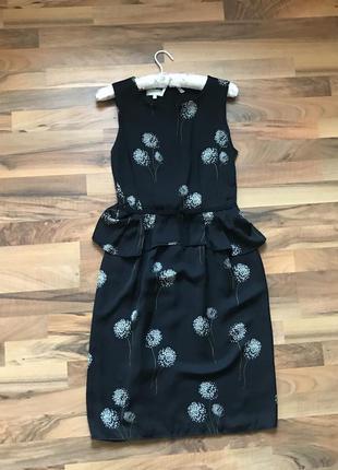 Платье миди hobbs ( ткань как шифоновая)