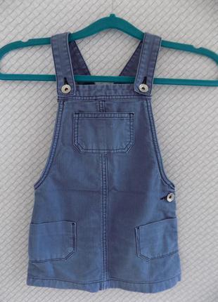 Классный джинсовый сарафанчик 2/3 годика1