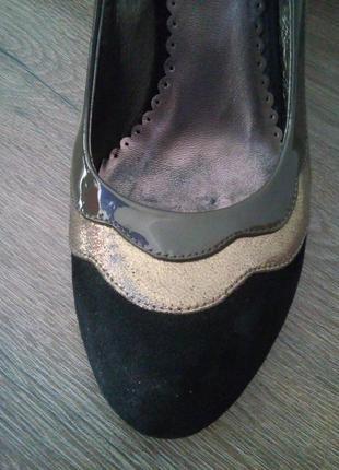 Туфли welfare на золотистой танкетке