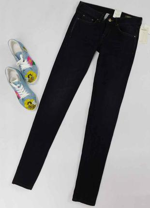 Темно-синее джинсы mango размер 24 (34) на высокую девушку