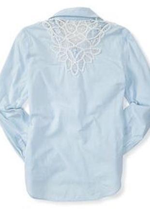 Рубашка aeropostale long sleeve battenburg shirt