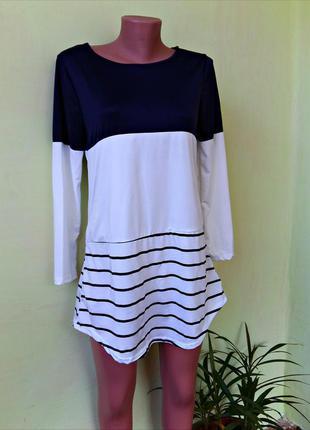 Платье-комбинация свободного кроя очень милое и стильное