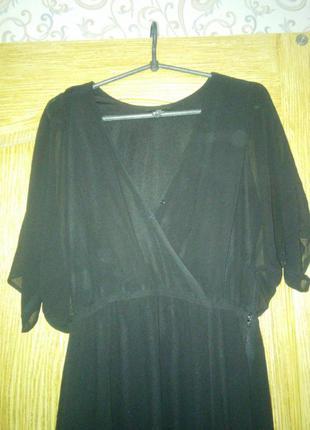 Черное вечернее платье h&m