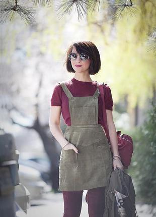 Замшевый сарафан платье мини asos