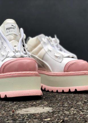Puma rihanna boots white pink
