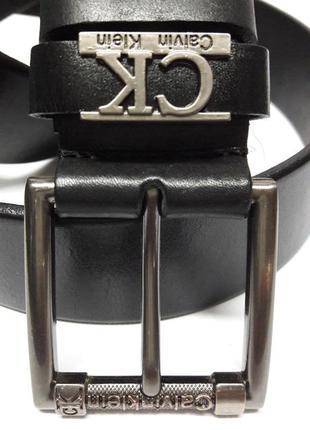 Кожаный ремень calvin klein чёрного цвета