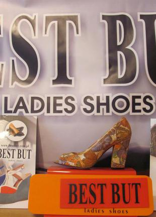 Распродажа - кожаные туфли с открытым носком (польша)