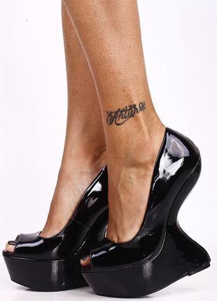 Туфли на платформе без каблука