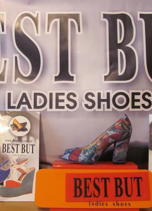 Распродажа! кожаные туфли с открытым носком (польша)