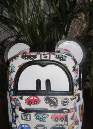 Рюкзак с принтом машинок