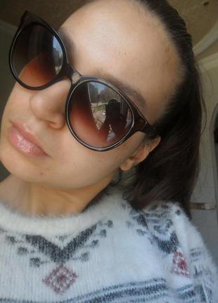 Крутые круглые коричневые очки. винтажный стиль  - очки