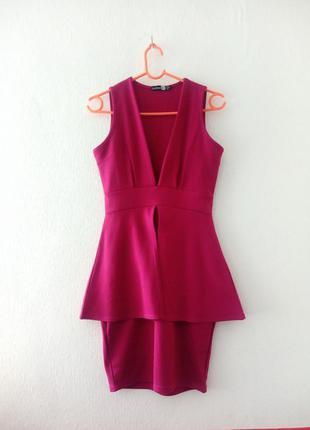 Платье с баской bohoo платье футляр коктейльное