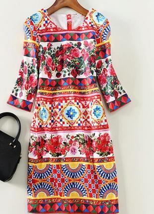 Яркое весенние платье