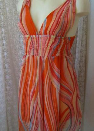 Платье женское летнее мини сарафан легкий бренд influence р.44 №2024а