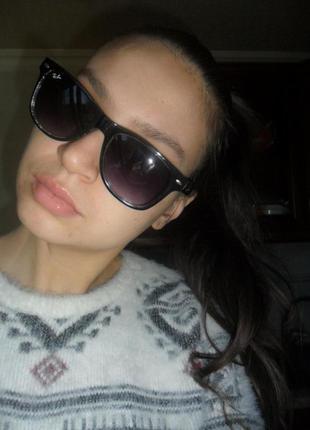 Крутые стильные квадратные очки. чёрно-прозрачные очки ретро стиль