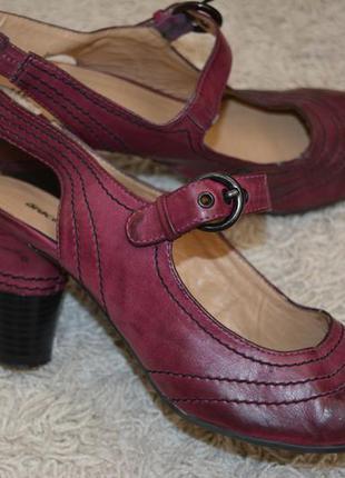 Туфли с открытой пяткой, бордо