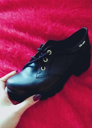 Кожаные ботинки на весну/осень 🌸