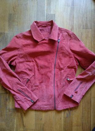 Куртка косуха tcm tchibo, кожа