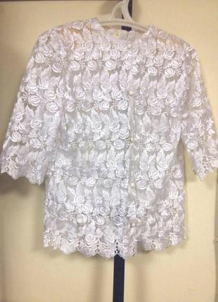 Шикарная кружевная блуза. актуально до 16.04 !!