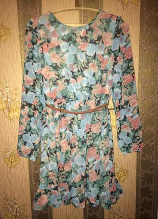 Весеннее шифоновое платье