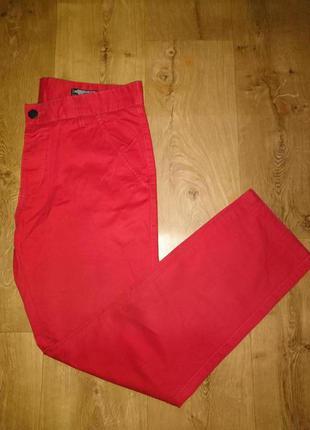 Стильные красные джинсы, брюки мужсуие jack & jones