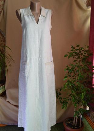 Льняное платье полуспорт