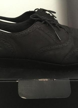 Туфли из нубука на плоской платформе vagabond