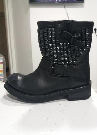Ash оригинал р.37 ботинки байкерский стиль