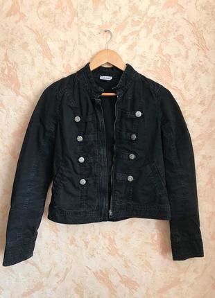 Котоновый черный пиджак pimkie