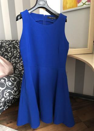 Платье миди красивого синего цвета