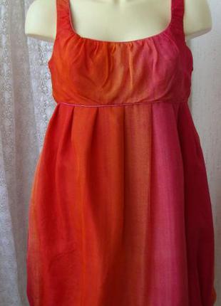 Платье модное яркое стильное шелковое мини бренд principles р. 46 2786